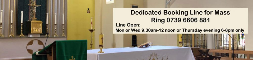 times to book Mass at St. Edward's church