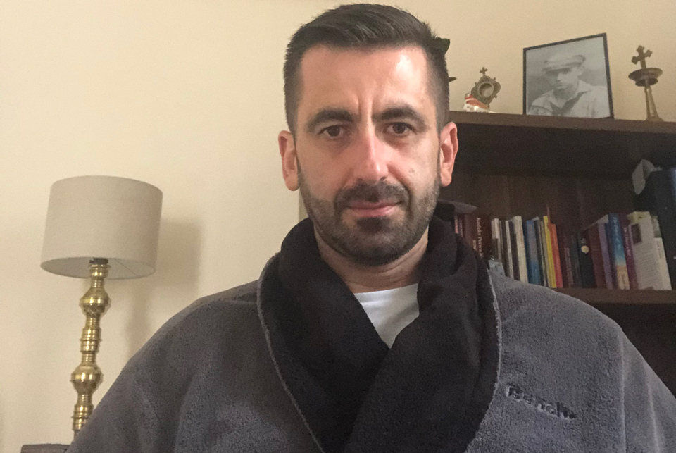 Fr Gregpry during covid-19 illness