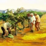 Painting, gathering in the harvest