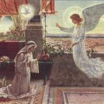 A painting of the Annunciation