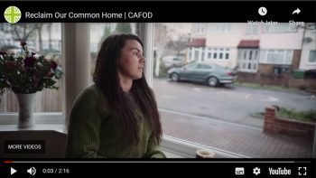 Still from a YouTube video from CAFOD Jan 2021