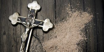 Ashes and a crucifix