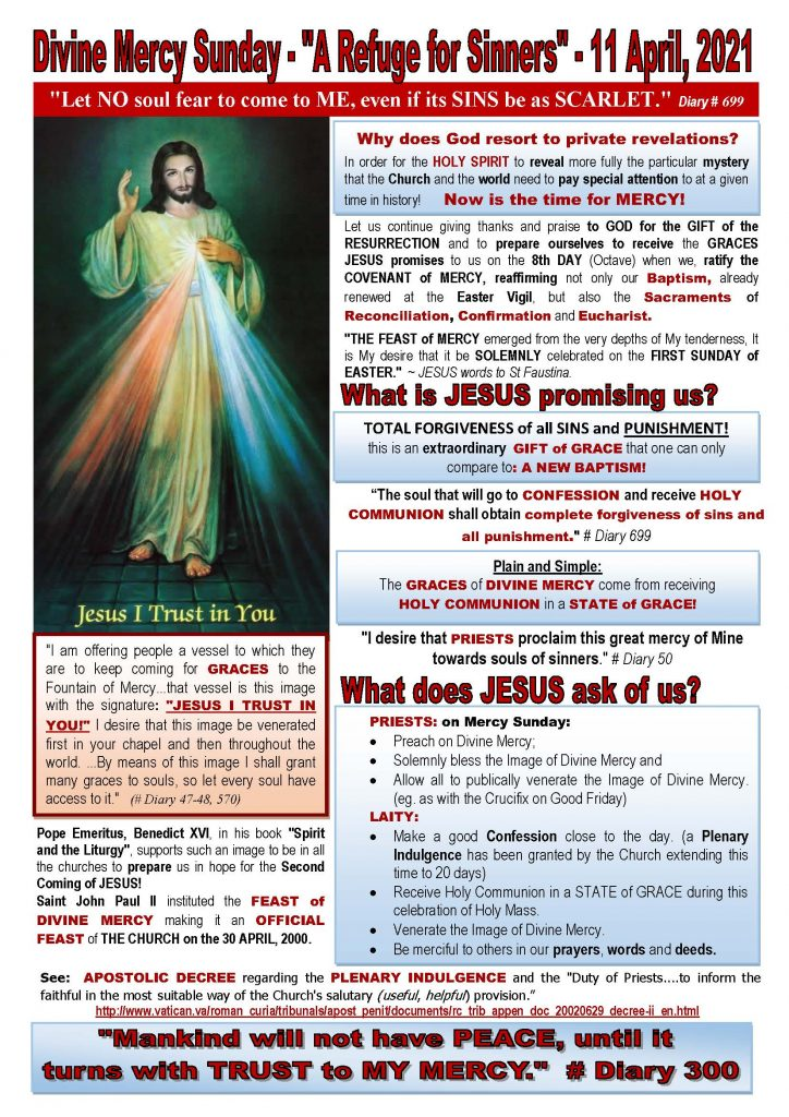 Poster Describing Divine Mercy Sunday