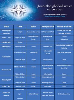 Thy Kingdom Come timetable Kettering