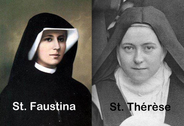 Sts Faustina and Therese of Lisieux